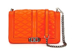 Rebecca Minkoff Love Crossbody in Hot Orange