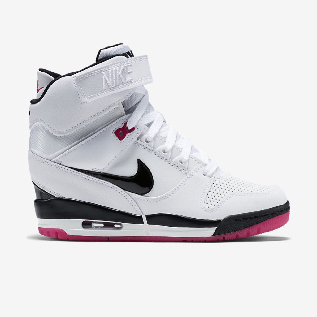 Nike Air Revolution Sky Hi White Fireberry Side View