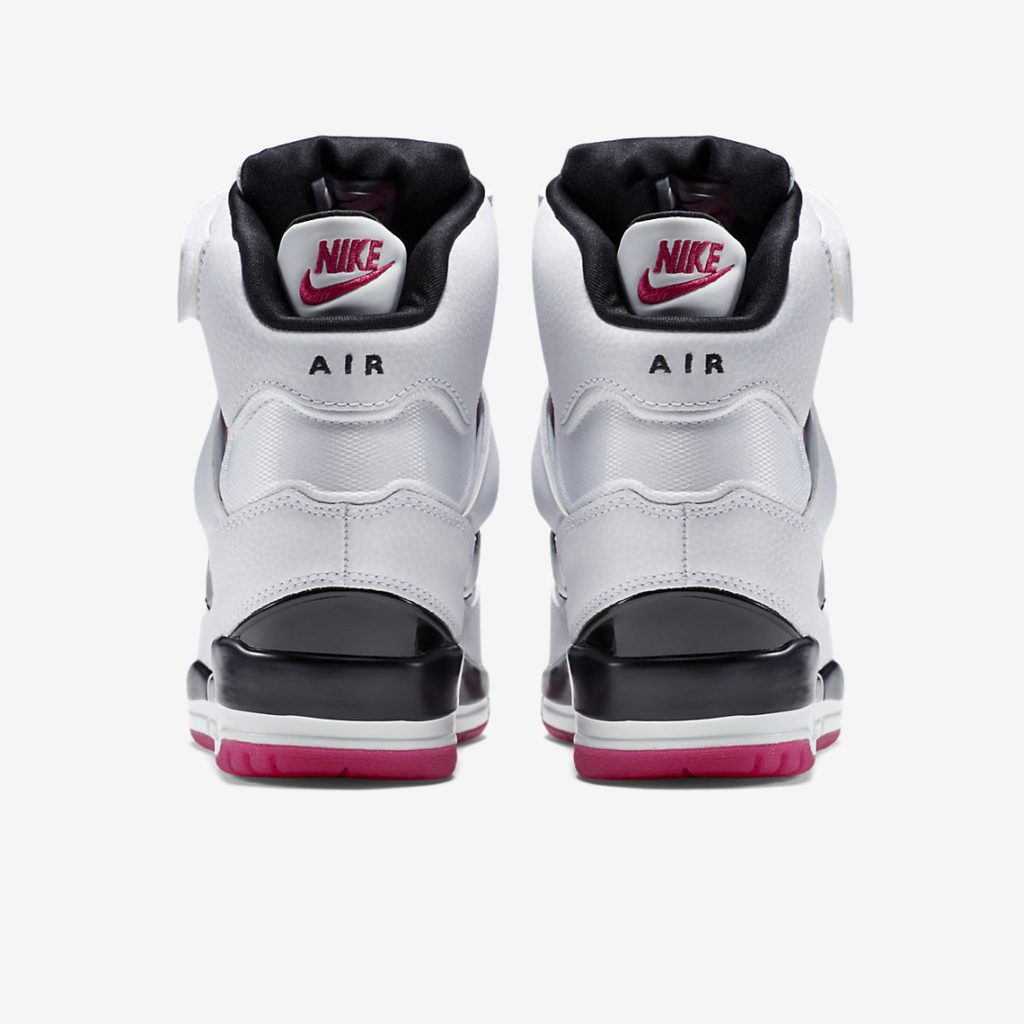 Nike Air Revolution Sky Hi White Fireberry Rear View