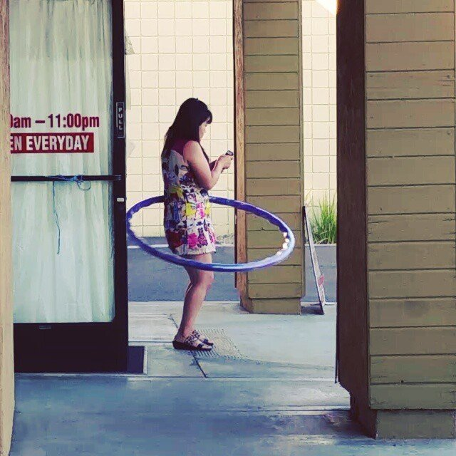 you know you're asian when....#textingwhilehulahooping