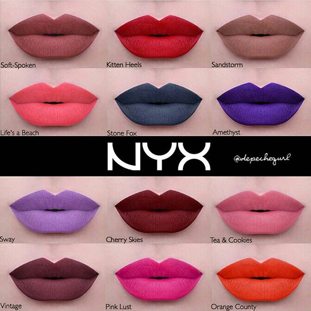 super excited for NYX's new line of liquid suede cream lipsticks!!