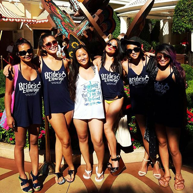 throwback thursday to @lovelycasti's bachelorette festivities in vegas, can't believe she's getting married in 2 days!