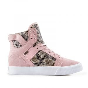 SKYTOPWEDGE_Pink Suede_High Top Sneaker