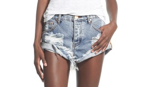 distressed denium shorts