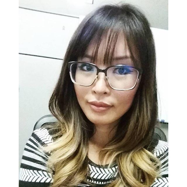 Glasses & wispy bangs