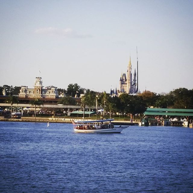 Ferry view of the Magic Kingdom