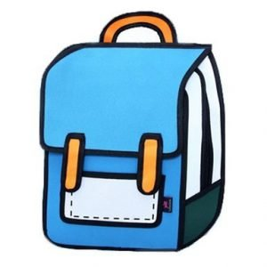 Blue Cartoon Backpack