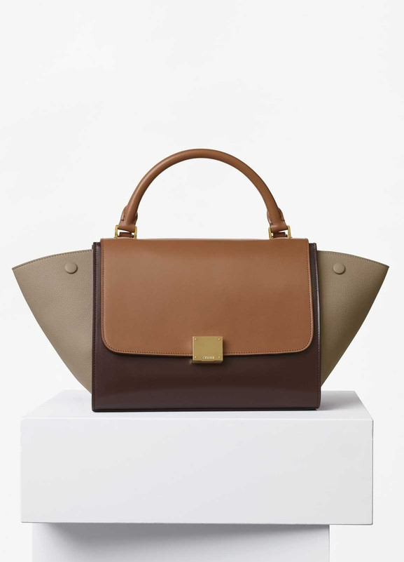 Celine Trapeze Bag, Multicolor Calfskin