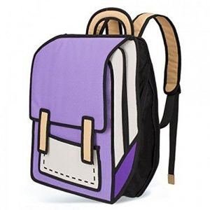 Purple Cartoon Backpack