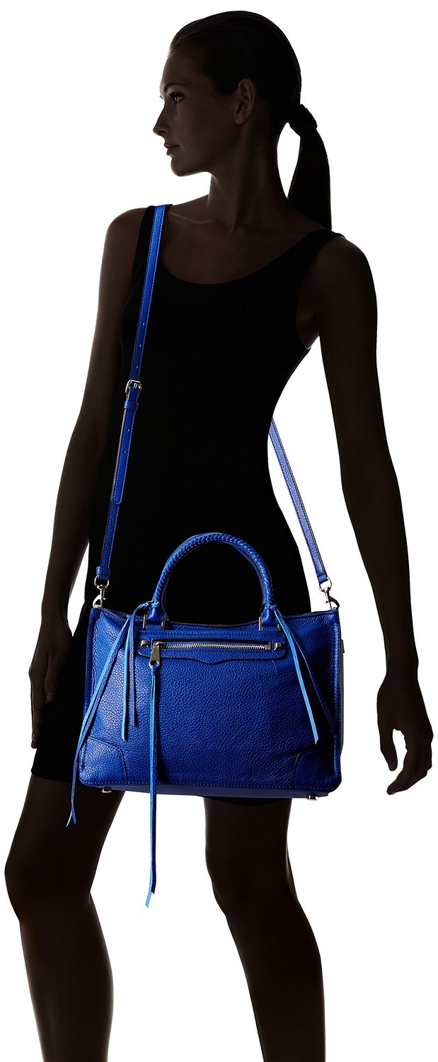 Rebecca Minkoff Regan Satchel Tote Blue Cat Eyes
