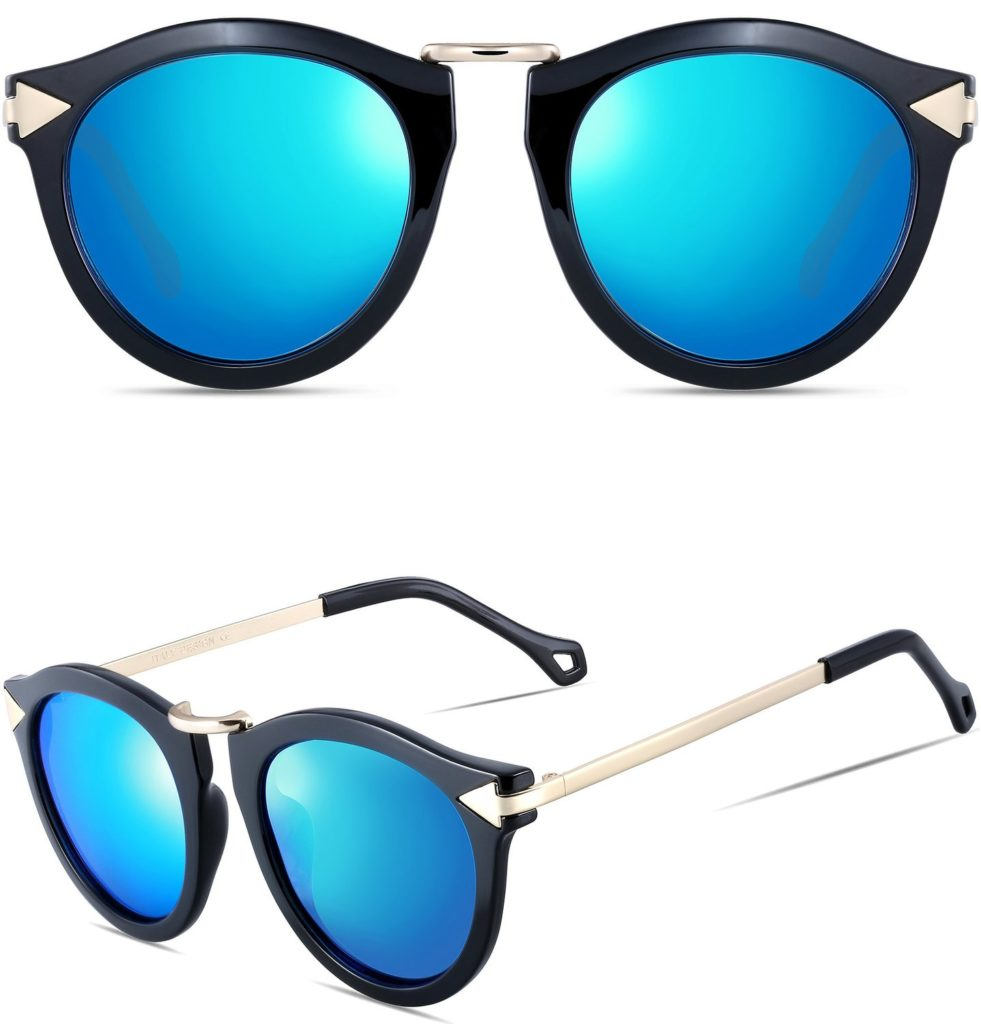 Retro Chic Sunglasses - Blue