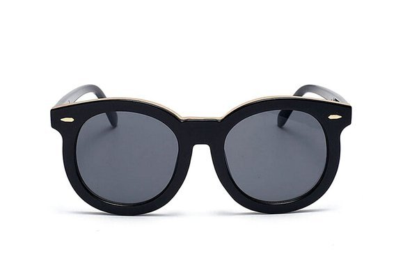 Oversized Rounded Wayfarer - Black