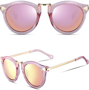 Retro Chic Sunglasses - Pink