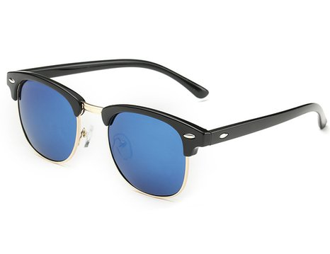 clubmaster sunglasses, blue