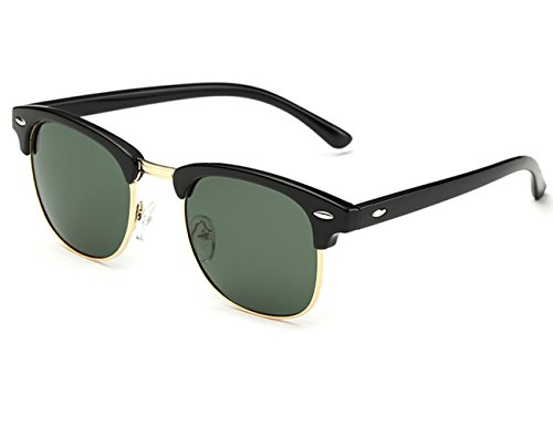 clubmaster sunglasses, green lense
