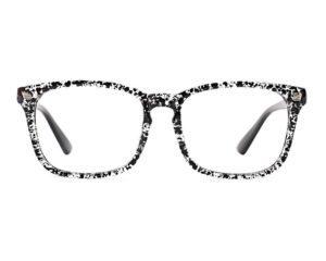 BW Splatter Eyeglasses