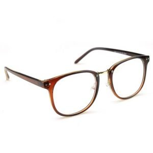 Brown Oversized Eyeglasses, Angled