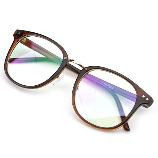 Brown Oversized Eyeglasses - Cat Eyes & Candy
