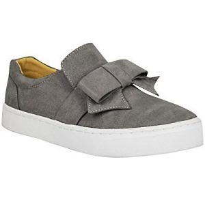 grey-bow-slip-on-shoes