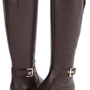nine-west-double-stap-boot-dark-brown