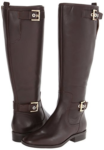 nine-west-double-stap-boot-dark-brown