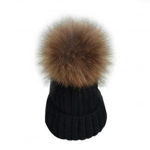black-beanie-with-fur-pom-pom