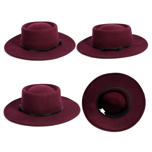 burgundy-wide-brim-hats