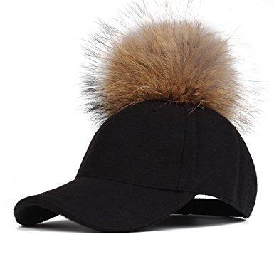 fur-pom-pom-baseball-cap-black