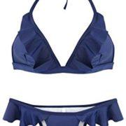 Navy Ruffle Bikini